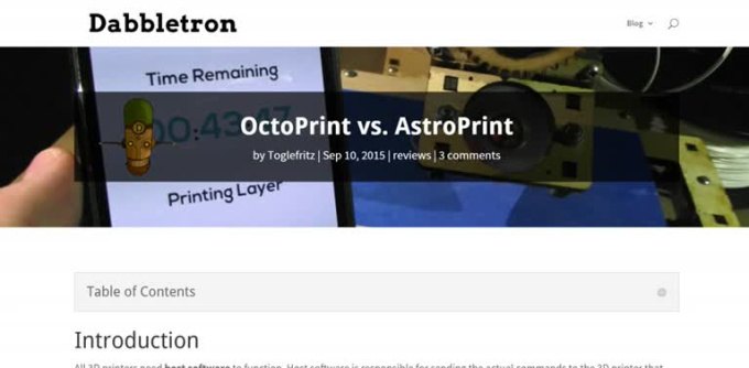 OctoPrint Vs AstroPrint