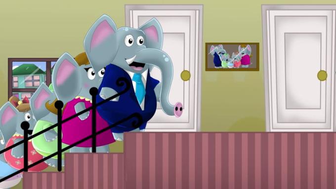 Familia dedo elefantes