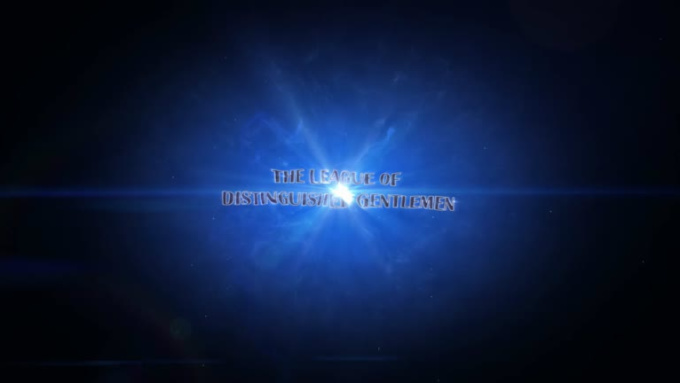 Cinematic Space Particles Explosion Logo Intro-the legue of distinguish gentlemen