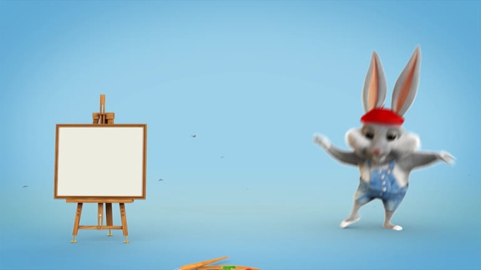 LittlePainter Character logo animation SFX