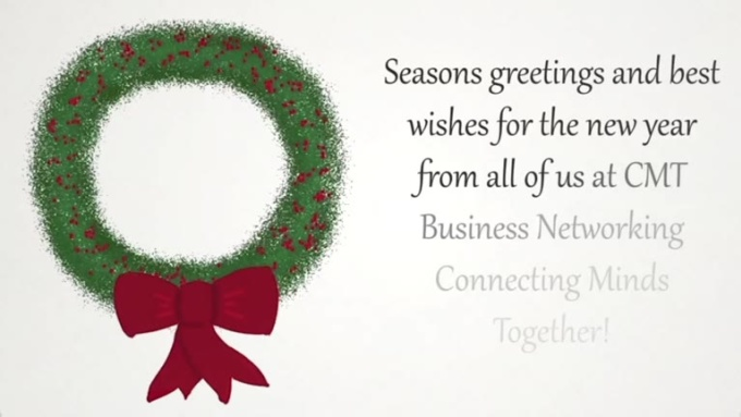 holiday wreath ecard