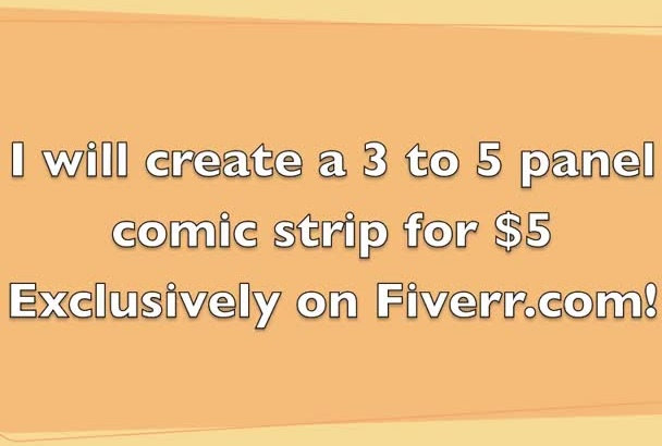 create a comic strip using your idea