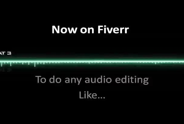professionally do any type of  AUDIO editing