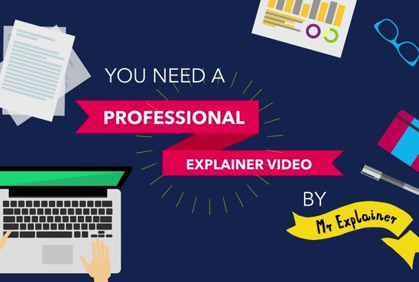 create a professional EXPLAINER Video commercial flat style