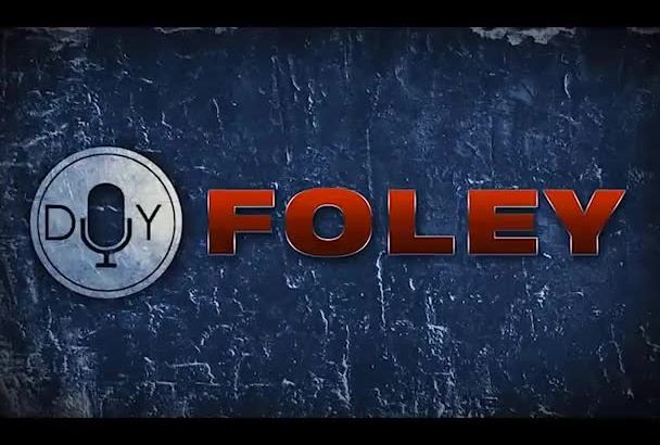 create Foley sound effects and show you how