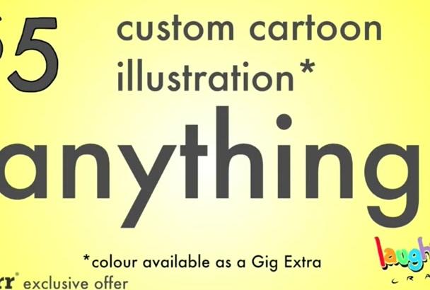 draw a custom cartoon illustration or drawing