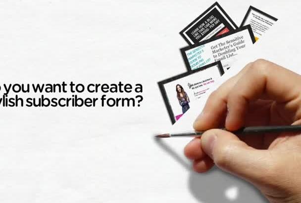 create Mailchimp, Aweber, GetResponse Optin Form