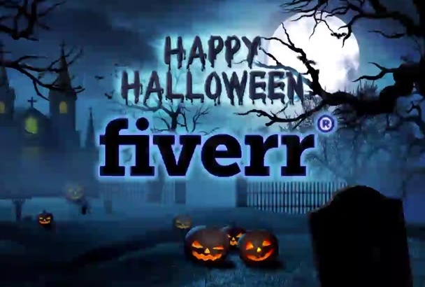 make a Halloween video greeting with your logo