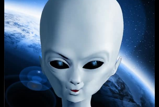 produce a video message as this alien
