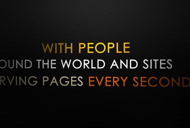 create Epic Kinetic Typography video