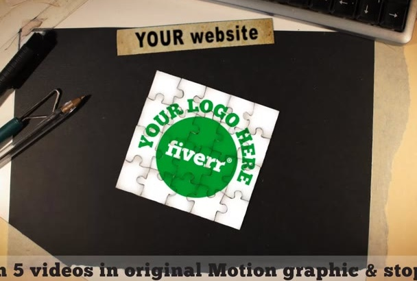 animate your logo in 5 videos done with original stopmotion templates