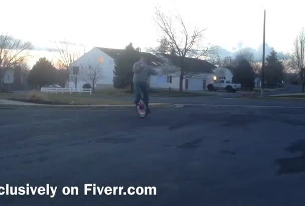 make a personalized unicycle birthday video