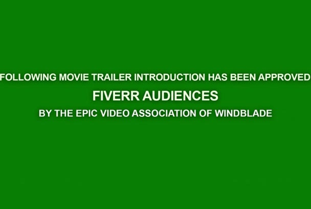 create a custom movie trailer rating card and countdown