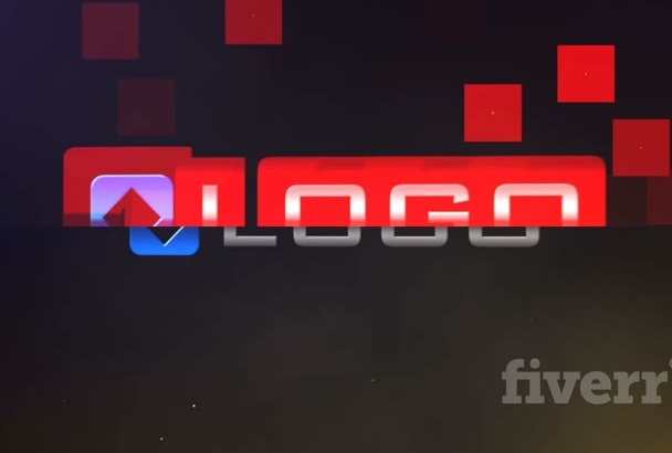 do Distorted 3D Logo Glitch Animation Video Intro