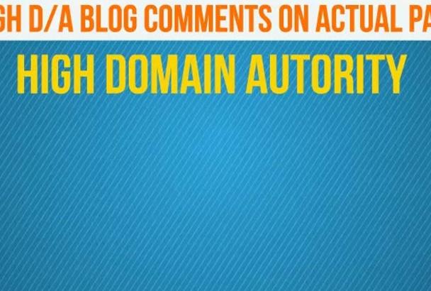 give you 120 High DA unique domain DoFollow blog comments