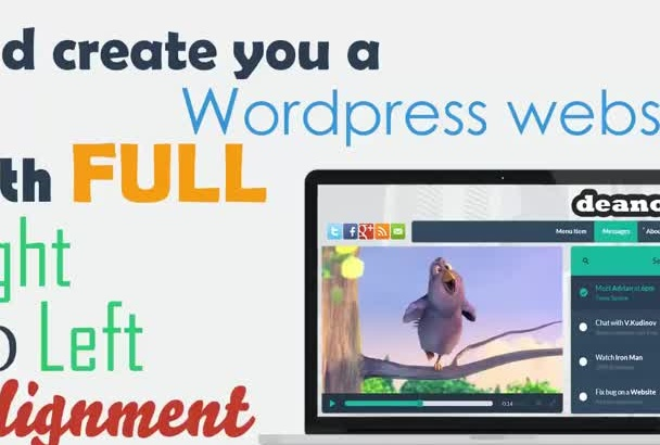 convert your wordpress, html theme from ltr to RTL to support hebrew, arabic