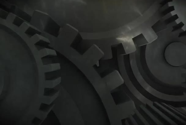 design this industrial 3d logo intro video animation