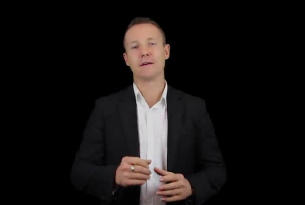 be your Video Presenter with a Black Background