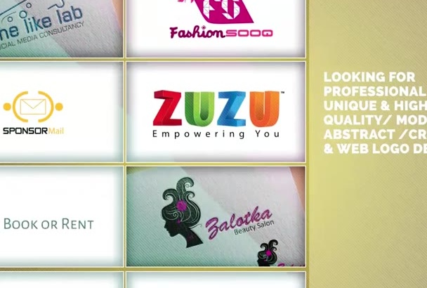 design a flat logo design
