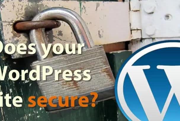 do excellent WordPress SECURITY