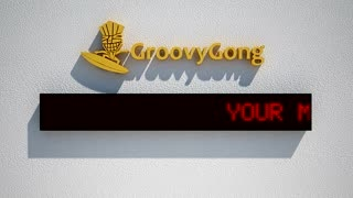 create led scrolling message with your logo