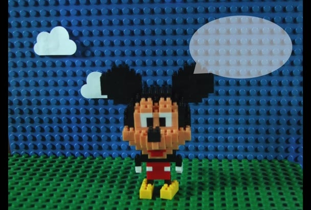 customize this Mickey mouse lego stop motion video
