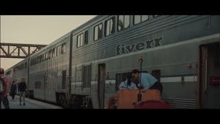 promote LOGO Text Photo in Train Billboard Video