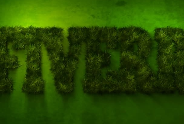 make a Eco 3D Grassy Green Logo reveal Intro video