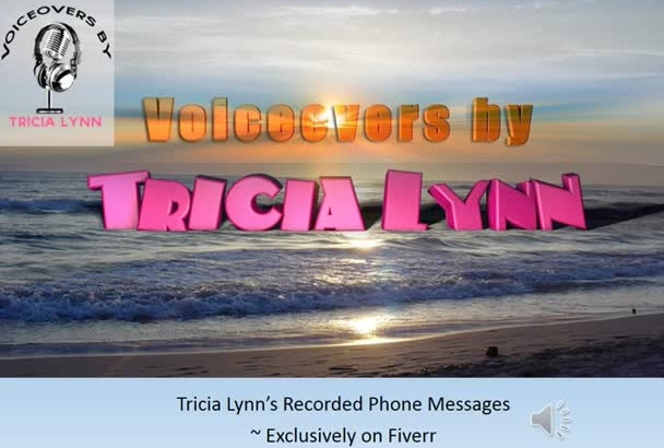 record a RESONATING Female Voicemail Greeting or Hold Message