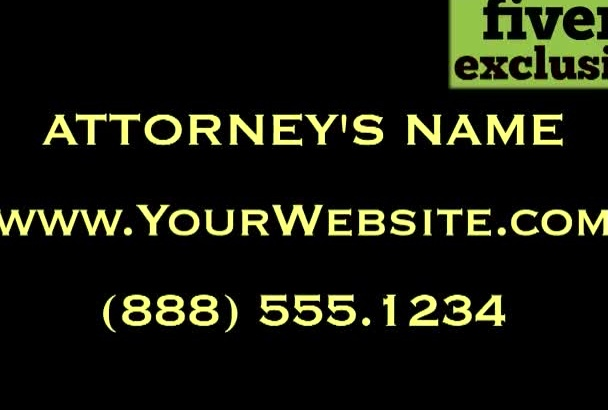 personalize a video for a Bankruptcy Lawyer