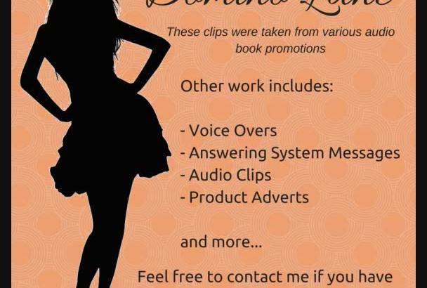 record a voice over or audio clip for you