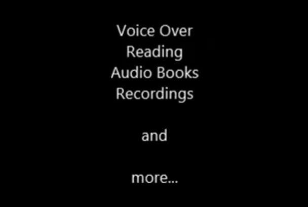 read professionaly and voiceover