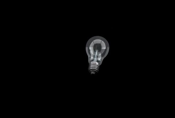 do an intro logo with a light bulb
