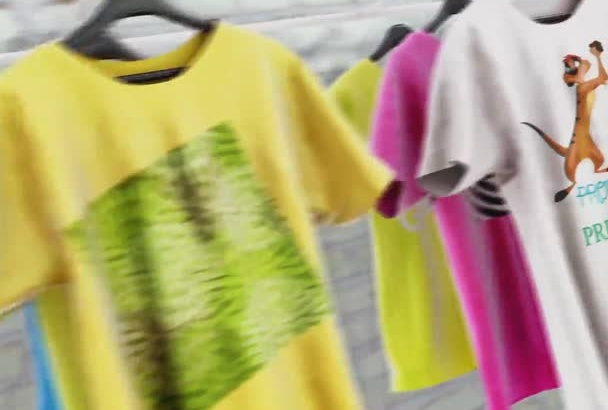 make T Shirt promo video for your BRAND, Logo ect