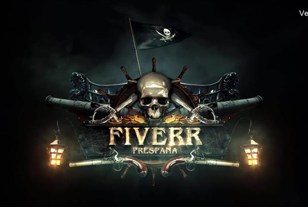 design cool PIRATE theme intro and outro, 3d