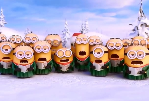 create MINIONS holiday video with your Logo n Text