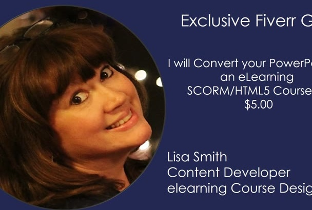 convert a powerpoint to a SCORM or HTML5 elearning course
