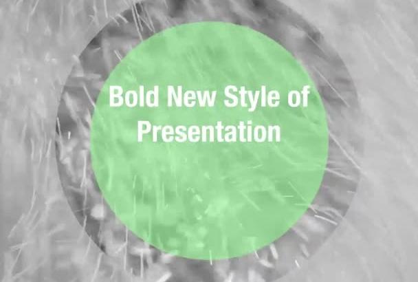 produce a special custom video presentation