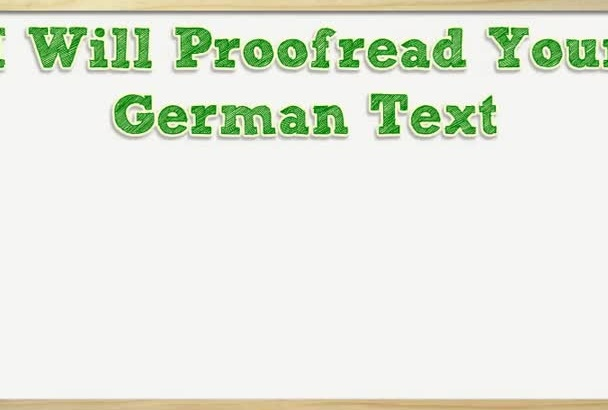 proofread your German text up to 1600 words