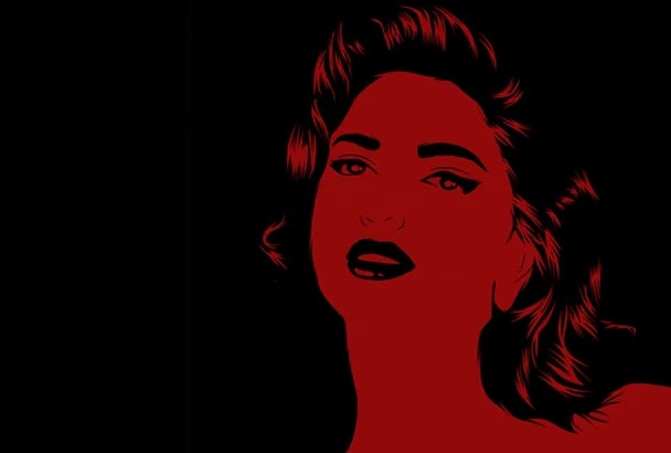 illustrate your photo in RETRO pop art style