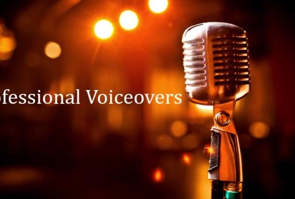 do a professional female voiceover