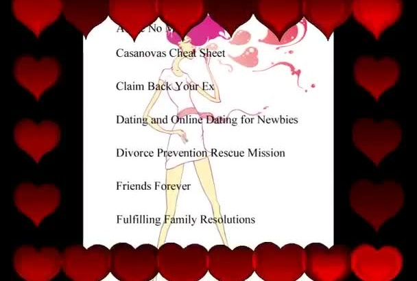 give you 30 Professionally written ebooks in the Dating and Relationships Niche All with Master Resale Resell Rights