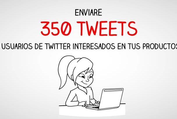 twittear 350 tweets publicitarios con menciones