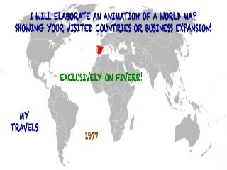 create an animation of the world map