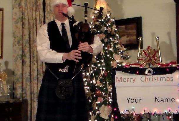 wish you a Merry Christmas on the Bagpipes