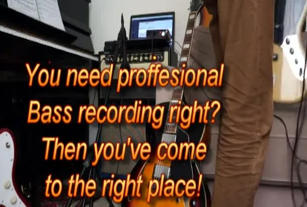 play and record anything on the bass