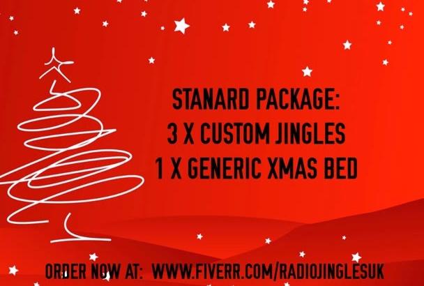 create 3 custom christmas jingles