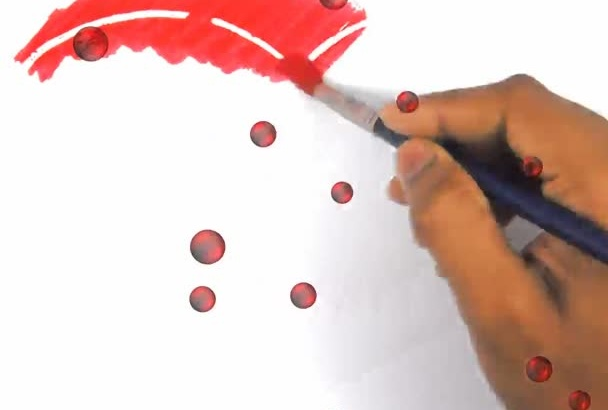 paint your simple Loving  Message in a heart