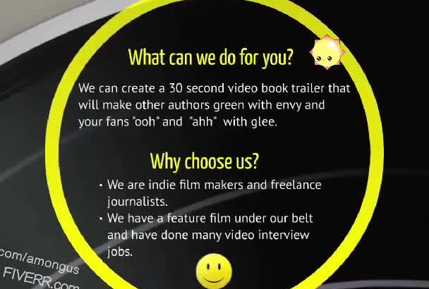 create a book trailer video for authors