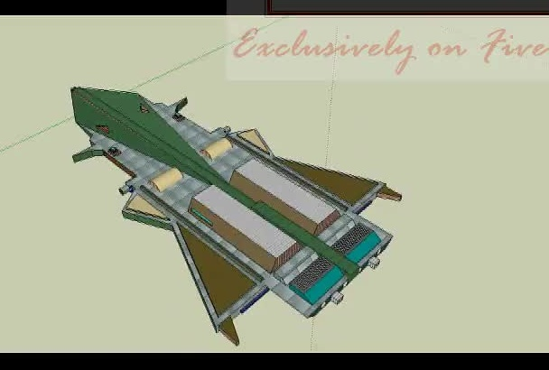 make you a simple 3D model in sketchup PLEASE Contact me before ordering